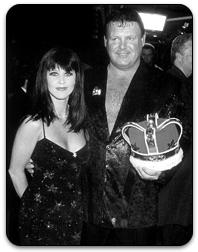 Stacy Carter and Jerry Lawler